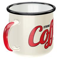 Fiftiesstore Emaille Mok Strong Coffee