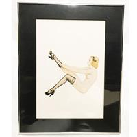 Fiftiesstore Pinup Meisje Stockings Alberto Vargas Litho In Lijst