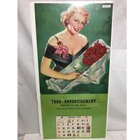 Fiftiesstore Pin Up Kalender Verkopers voorbeeld 1952