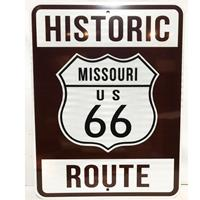 Fiftiesstore Historic Route 66 Missouri Snelweg Bord - Reflecterend