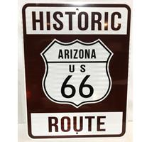 Fiftiesstore Historic Route 66 Arizona Snelweg Bord - Reflecterend