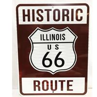 Fiftiesstore Historic Route 66 Illinois Snelweg Bord - Reflecterend