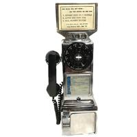 Fiftiesstore Chrome Wandtelefoon / Payphone 50's