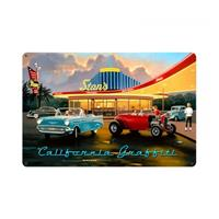 Fiftiesstore California Graffiti Cars Dinner Zwaar Metalen Bord