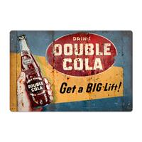 Fiftiesstore Double Cola Zwaar Metalen Bord