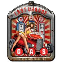Fiftiesstore Last Chance Pin-Up Zware Metalen Bord 59,5 x 47 cm