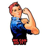 Fiftiesstore Rosie The Riveter We Can Do It Zwaar metalen Bord