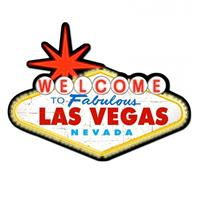 Fiftiesstore Welcome to Las Vegas zwaar metalen bord