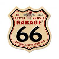 Fiftiesstore Busted Knuckle Garage Zwaar Metalen Bord 38 x 38 cm