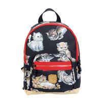 Pick & Pack Cute Rugzak S Kittens Black