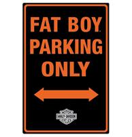 Fiftiesstore Harley-Davidson Fat Boy Parking Only Metalen Bord Met Relief