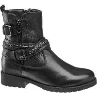 Zwarte leren bikerboot 5th Avenue