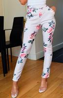 Exclusivepremium Parina Floral Trousers Grey
