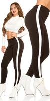 Cosmodacollection Sexy trousers with elastic waistband Black