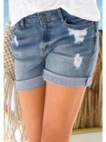 BUFFALO LONDON Jeans-bermuda in used-look