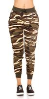Cosmodacollection Trendy Camouflage Joggers Beige