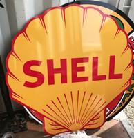 Fiftiesstore Shell Groot Metalen Bord - Reproductie