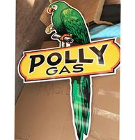 Fiftiesstore Polly Gas Groot Metalen Bord - Reproductie