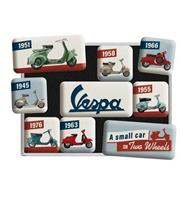 Fiftiesstore Magneet Set Vespa Model Chart