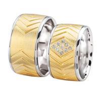 Christian Trouwringen met diamanten geel goud