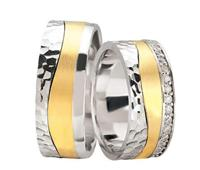 Christian Bicolor fantasie trouwringen met 37 diamanten geel goud