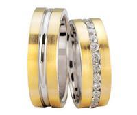 Christian Trouwringen met 11 diamanten geel goud