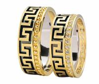 Christian Trouwringen grieks ontwerp geel goud