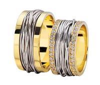 Christian Bicolor gevlochten trouwringen geel goud