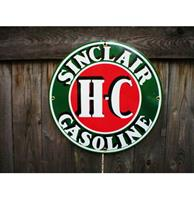 Fiftiesstore Sinclair HC Gasoline Emaille Bord