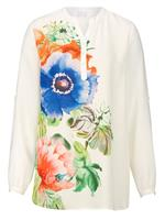 Blouse Alba Moda wit/multicolor