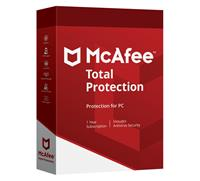 70 % korting - McAfee Total Protection 2018 - Antivirus, Anti-malware (1 jarig Abonnement)