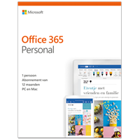 Microsoft Office 365 Personal - Apple iOS, Android, Mac, PC - Downloaden - All Languages - 1PC 1year