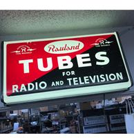 Fiftiesstore Rauland Tubes For Radio And Television Lichtbak - Zeldzaam