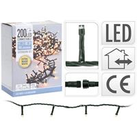 Koppelbare Kerstverlichting - 200 LED - 6m - warm wit