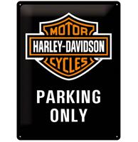 fiftiesstore Harley-Davidson Parking Only Metalen Bord 30 x 40 cm