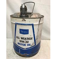fiftiesstore Sears All Weather Motor Olieblik