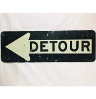 fiftiesstore Detour Straatbord - Origineel - Medium