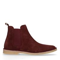 Sacha Rode suède chelsea boots - rood