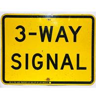 fiftiesstore 3 - Way Signal Straatbord - Origineel