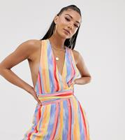 Sole East By Onia Amelia Exclusieve playsuit met verfstrepenprint-Multi