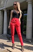 exclusivepremium Hannah High Waisted Trousers Red