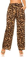 cosmodacollection Trendy casual summer pants Leoprint Leobrown