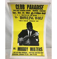 fiftiesstore Poster Howling Wolf Vs. Muddy Waters In Club Paradise - Reproductie 56 x 36 cm
