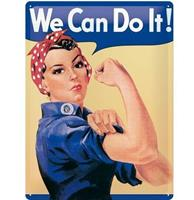 We Can Do It Metalen Bord - 30 x 40 cm