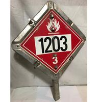 fiftiesstore Truck Hazardous Metalen Straatbord - Origineel
