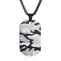 mendes Camouflage Dogtag kettinghanger inclusief ketting