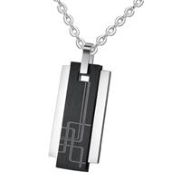 mendes Luxe mannen kettinghanger Geometric Tag