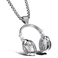 mendes heren kettinghanger Headphone Silver