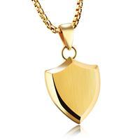 mendes heren ketting met hanger Gold Shield