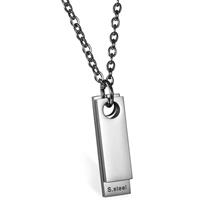 mendes Luxe Dogtag kettinghanger  Zilver